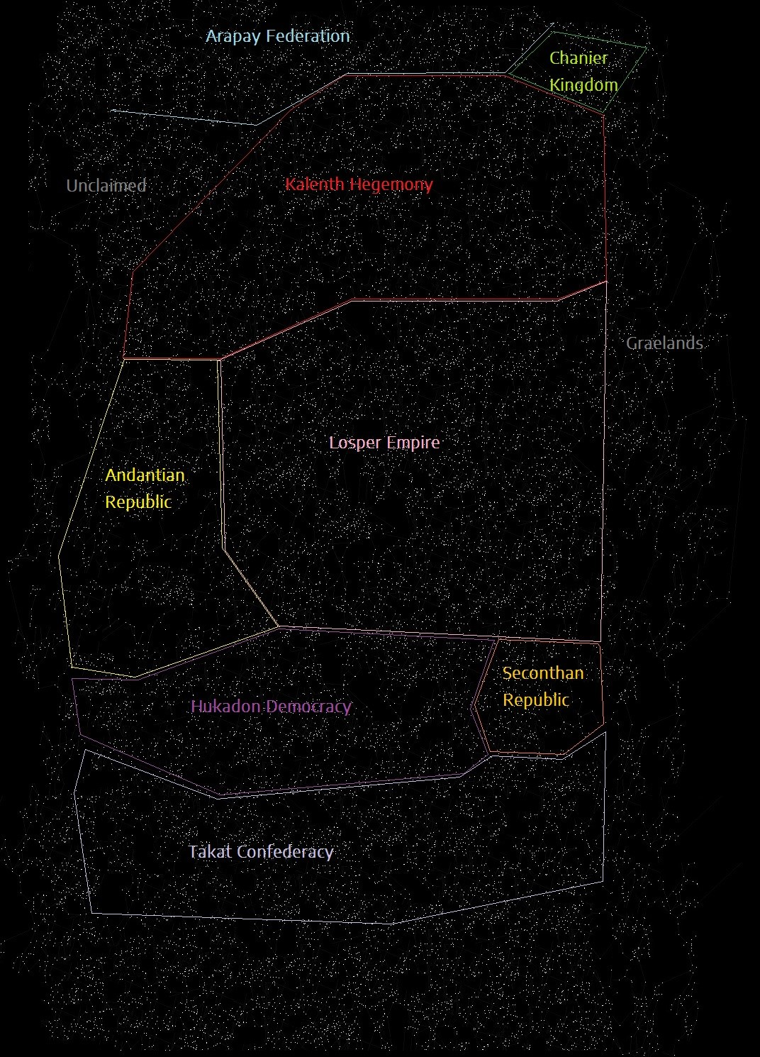 Orion Spur star map