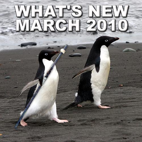 What's New March 2010